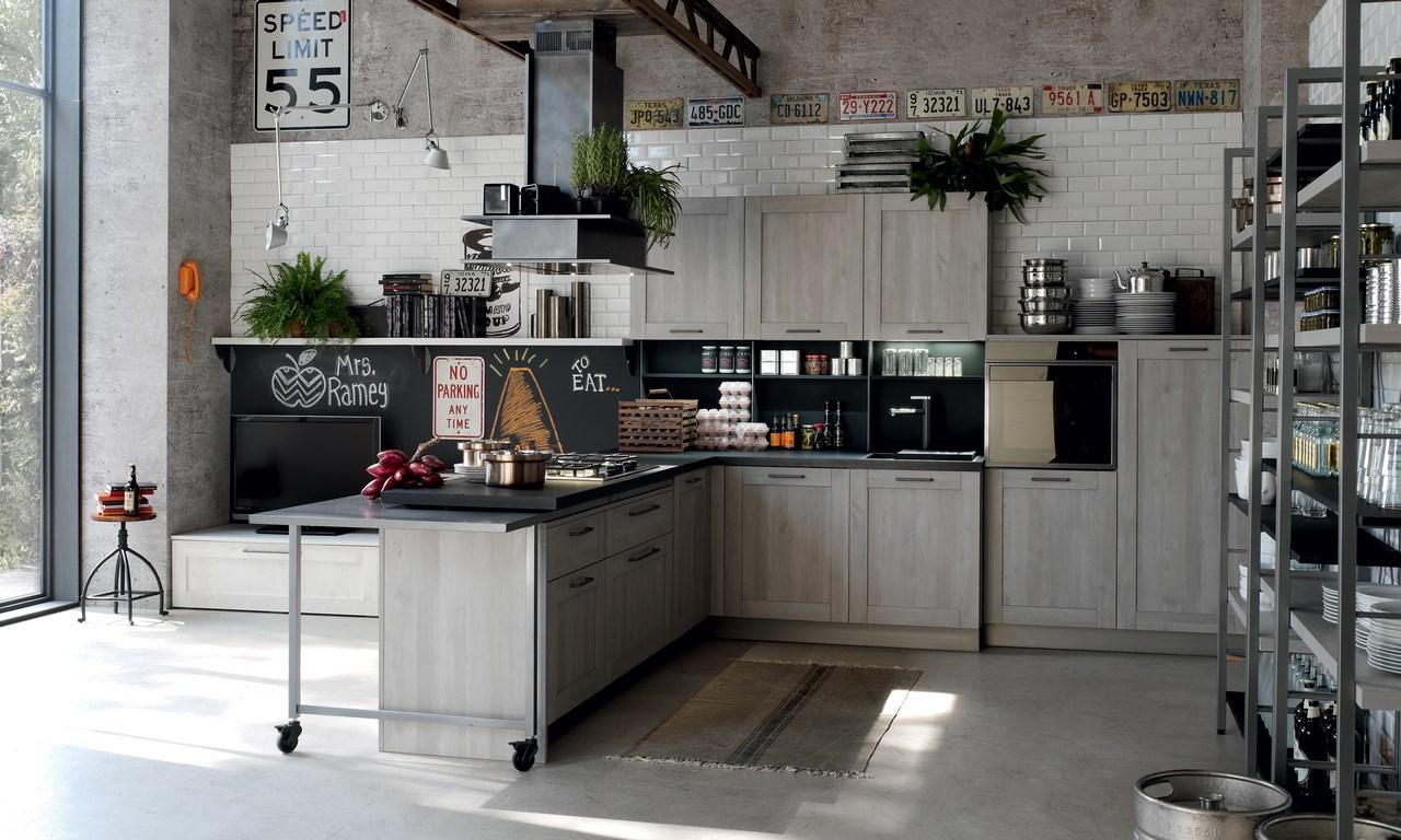Cucina stosa city lorenzelli arredamenti - Cucina grigio scuro ...