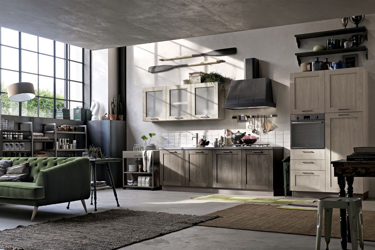 Cucina stosa city lorenzelli arredamenti - Cucine stile industriale vintage ...