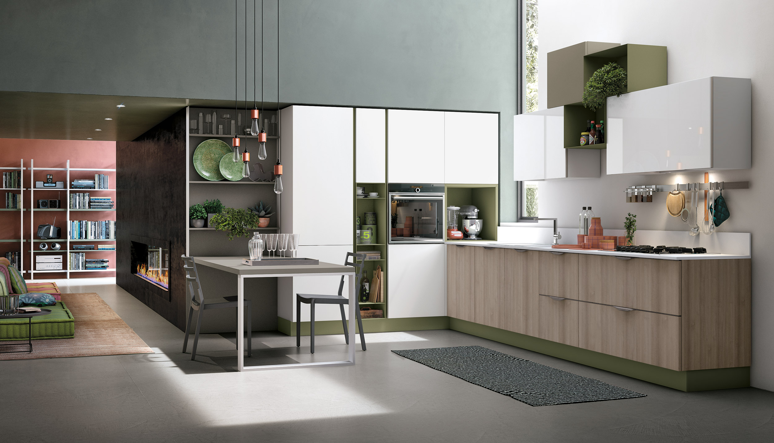 Cucina stosa aliant lorenzelli arredamenti for Cucine moderne design