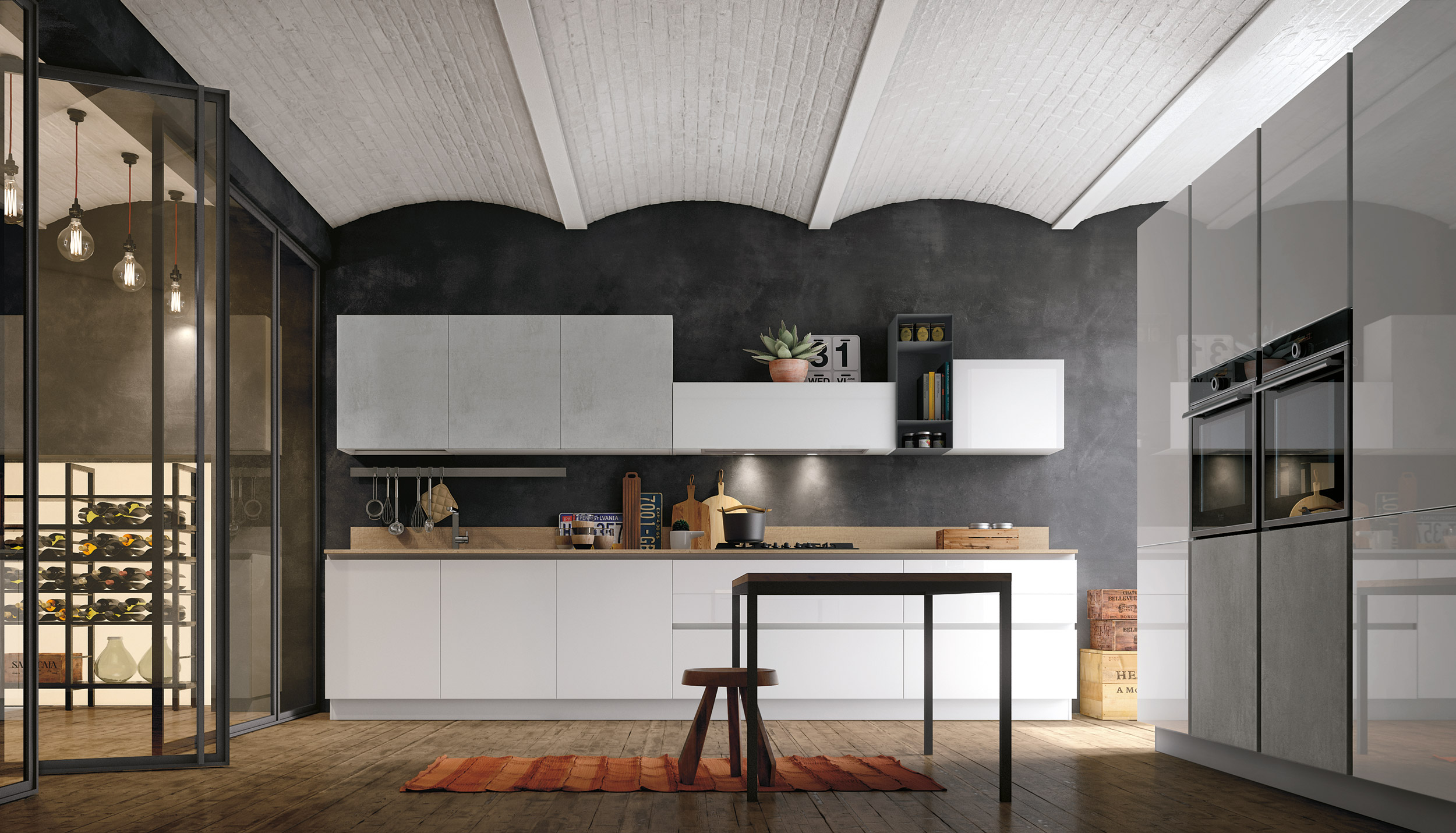 Cucina stosa aliant lorenzelli arredamenti - Cucine in vetro ...