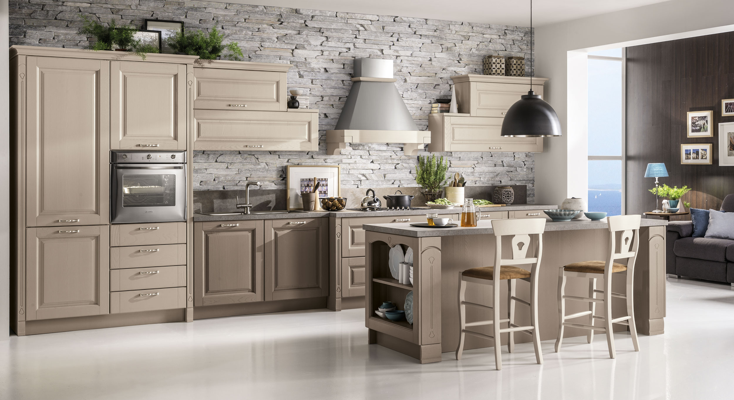 Cucina stosa bolgheri lorenzelli arredamenti - Immagini di cucine classiche ...