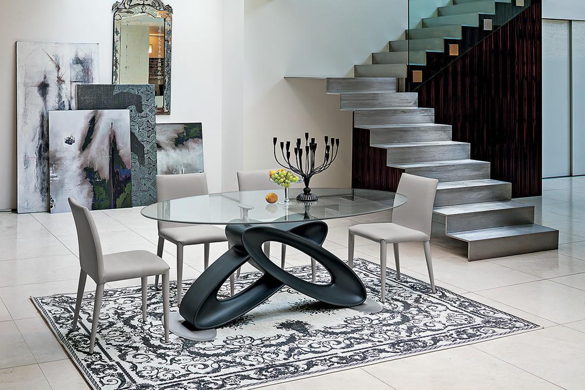 Tavolo eclipse stones lorenzelli arredamenti for Tavoli ovali moderni